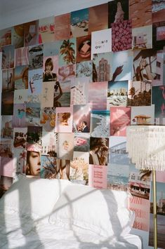 Collage Mural, Bedroom Wall Collage, Photo Wall Collage, Bedroom Picture Walls, Pictures For Bedroom Walls, Photo Walls, Cute Room Ideas, Cute Room Decor, Teen Room Decor