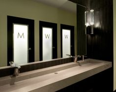 Simple but effective toilet signage
