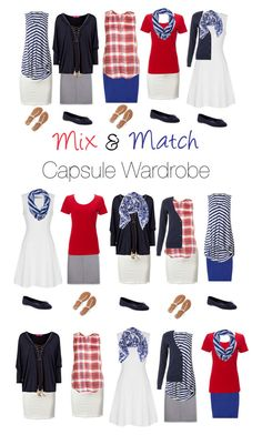 Capsule Wardrobe: Red and Blue by mary-grace-see on Polyvore featuring moda, True Decadence, Lucky Brand, Phase Eight, Aventura, Boden, Aéropostale, Old Navy, Halogen and capsulewardrobe