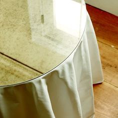 Antiqued Mirror Table Topper -30 inch Diam.