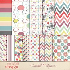Check out Digital paper by Creativeqube Design on Creative Market