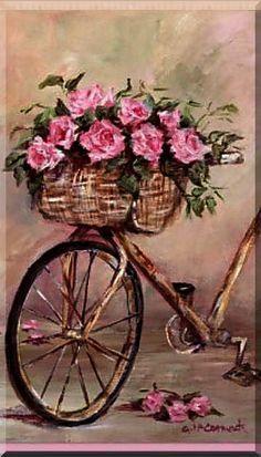 sun rain bicycle art