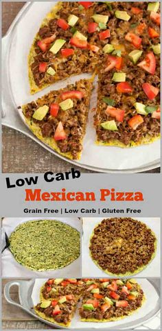 Low Carb Mexican Pizza- Grain free, gluten free, primal and low carb