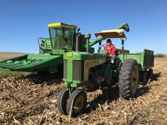 84 year old farmer and his perfectly maintained John Deere equipment.