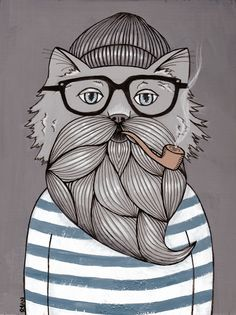 Ryan Conners' Cat Folk Art