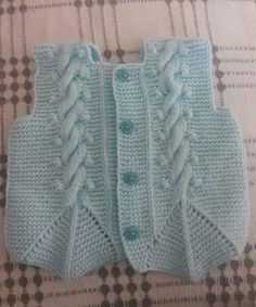 This Pin was discovered by Gal Baby Knitting Patterns, Arm Knitting, Crochet For Kids, Crochet Baby, Knit Crochet, Baby Pullover, Baby Cardigan, Half Sweater, Knit Vest Pattern