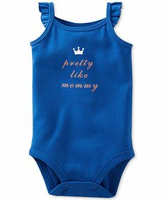 Carter's Baby Girls' Pretty Like Mommy Bodysuit