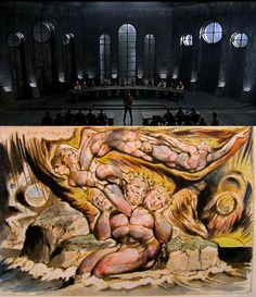 """In William Blake's figure, the three heads are """"three brains in contradictory council brooding incessantly,"""" not daring to act,"""" """"plotting to devour Albions body of Humanity & Love,"""" and """"rejecting Ideas as nothing & holding all Wisdom/ To consist in the agreements & disagreements of Ideas."""" This last is a paraphrase of the philosopher John Locke, but with two meanings of the word """"Idea."""" John Locke, William Blake, Wisdom, Ideas, Thoughts"""