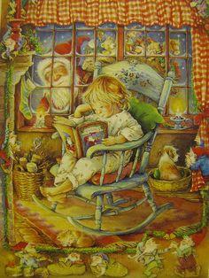 Lisi Martin chrismas postcard by Gitten's Toys, via Flickr