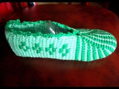 "Следки тунисским крючком на любой размер ч 3 ""А"" (Tunisian crochet slippers) - YouTube"