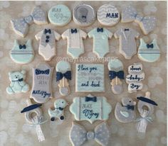 "Mayra Rodriguez on Instagram: ""A Little Man Max Grey is on the way.... #customcookies #littleman #babyshower #bowties #mayrascakepops #mydulcedelights #sweetsforeveryoccasion"""