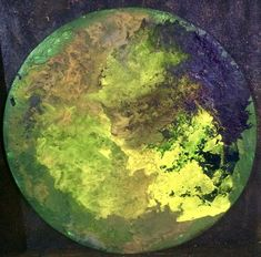 d=43cm, Asche und Pigmente auf Holz, 2019, #IstvanSeidel Planet 1, Artist At Work, Light Art, Ash, Circuit, Painting Art, Timber Wood, Pictures