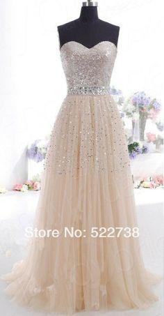 envío gratis champán vestido de noche 2014 nuevo elie saab de cristal a largo vestido de noche fiesta por la noche elegante vestido de noche formal