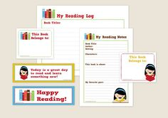 Printable Summer Reading Log.  What a great way to help make summer reading fun!