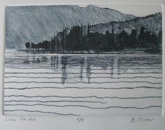 Lake Garda -  drypoint - Di Oliver