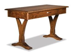 Amish Paris Writing Desk Create your version of Paris with 12 wood types to pick from for this Amish made desk. You can add a leather writing pad and power station too if you wish.