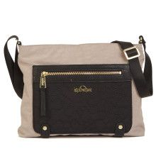 Renee Crossbody Handbag - Feather Grey Embroidery Combo