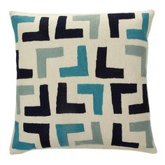 Discover+the+Jonathan+Adler+Brasilia+Arthur+Cushion+-+Blue+at+Amara