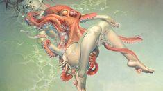 Cthulhu, Miss Hulk, Heavy Metal Art, Katsushika Hokusai, Metal Magazine, Cultura Pop, Tentacle, Erotic Art, Disney Characters