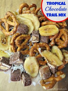 Tropical Chocolate Trail Mix! #WhenImHungry #Ad