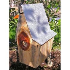 Heartwood Vintage Shed Bird House - Antique Cypress. Made of premium cypress wood with galvanized metal roof. Handcrafted in the USA. Contemporary Birdhouses, Galvanized Metal Roof, Birdhouse Designs, Birdhouse Ideas, Wildlife Decor, Decorative Bird Houses, Bird House Kits, Bird Aviary, House Yard