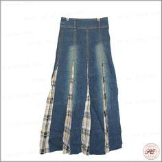moda azul jean larga falda de tela de mezclilla--Identificación del producto:531422488-spanish.alibaba.com