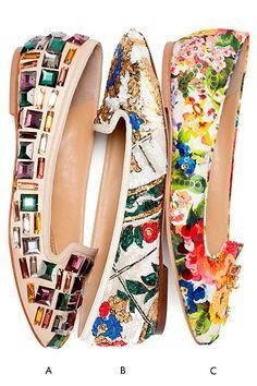 Tendance Chaussures   The New Florals  Dolce & Gabbana Ballet Flats 2014