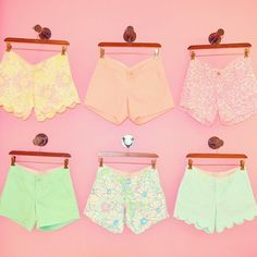 Lily Pulitzer printed shorts <3 ! Love these! I have the bottom middle one, but I WANT all of the other ones so bad!!