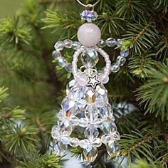 Christmas Tutorial - how to make a Christmas Angel with beads and wire