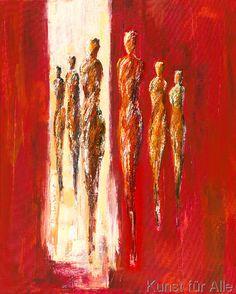 Petra Schüßler - Sechs Figuren in Rot