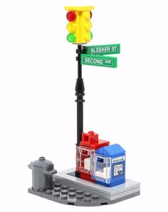 LEGO CITY STREET CORNER Intersection Traffic Light/Mailbox/Newspapers 76058 #LEGO