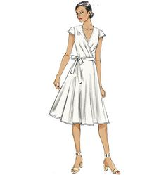 V8784 Misses' Dress sewing pattern | Very Easy ★