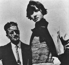 James Joyce and Lucia Joyce, circa 1926.