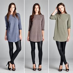 D5249 Semi-loose fit three-quarter length sleeve round neck raglan dress. Has rounded hems. Sleeves are cuffed. This dress is made with medium weight French Terry that is very soft and drapes well. This fabric has great stretch.  #cherishusa #cherishapparel #shopcherish #fallfashion #fashionbuyer #boutique #fashion #fashiondiaries #instafashion #instastyle #fashionstyle #ootd #fashionable #fashiongram #fallstyle #clothingbrand #fall2015 #fallfashion #dress #dresses #tunicdress #frenchterry…