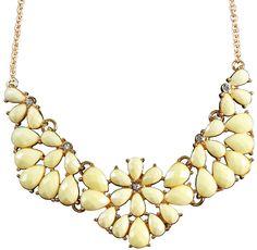Bijou Brigitte  necklace - Yellow Pastel