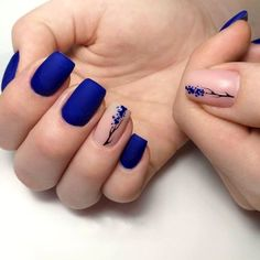 Want some ideas for wedding nail polish designs? This article is a collection of our favorite nail polish designs for your special day. Blue Gel Nails, Blue Acrylic Nails, Dark Nails, Green Nails, Square Acrylic Nails, Blue Nail Designs, Acrylic Nail Designs, Cute Summer Nail Designs, Short Nail Designs