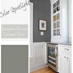 Ideas bedroom colors paint benjamin moore chelsea gray for 2019 Bedroom Paint Colors, Gray Bedroom, Trendy Bedroom, Wall Colors, Paint Colours, Benjamin Moore Chelsea Gray, Benjamin Moore Edgecomb Gray, Dutch Door Interior, Ideas