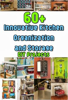 Diy Projects: Over 60 Clever Kitchen Organization and Storage DIY Projects