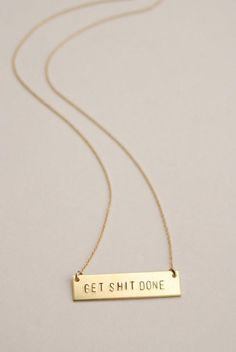 c2b13ac58 The Betty Collection: Get Shit Done Necklace in Gold/Brass – The Bullish  Store