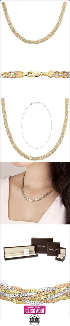 Carissima Gold Collar de mujer con oro tricolor de 9 quilates (375/1000), sin gema, 46 cm  ✿ Joyas para mujer - Las mejores ofertas ✿ ▬► Ver oferta: https://comprar.io/goto/B00AII9CL2