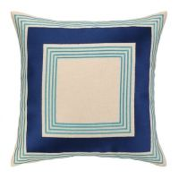Brea Embroidered Pillow - Blue