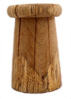 allen pearce solid wood stool