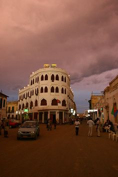Met a student from Eritrea today so I googled the name of the country and found this... Fabulous. Massawa just before sunset. The Torino hotel.Eritrea