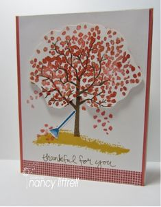 Fall Sheltering Tree by nancy littrell - Cards and Paper Crafts at Splitcoaststampers