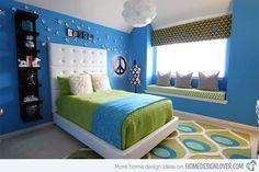 15 Killer Blue and Lime Green Bedroom Design Ideas   Home Design Lover by katharine