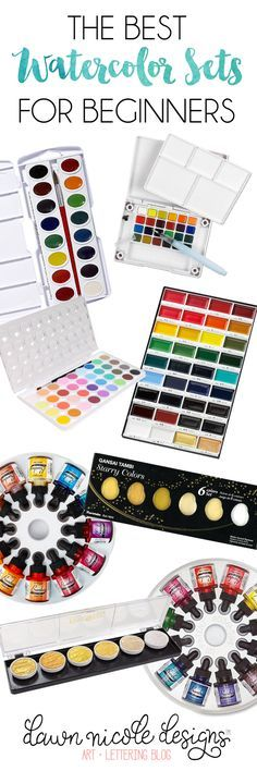 Best Watercolor Sets for Beginners. These are the sets I actually own, use, and love!
