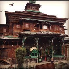 700+ year old mosque in Srinagar, Kashmir.