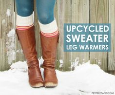 Upcycled Boot Cuffs or Leg Warmers from old sweater
