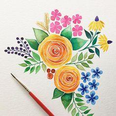 57 Ideas for watercolor word art diy Watercolor Cards, Watercolor Flowers, Watercolor Paintings, Watercolour, Inspiration Art, Art Inspo, Guache, Art Sketchbook, Pattern Art