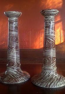 Faux Bois Candlesticks